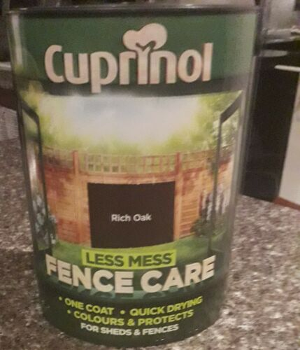 2+x+5L+CUPRINOL+LESS+MESS++ONE+COAT+QUICK+DRYING+FENCE+CARE+IN+RICH+OAK