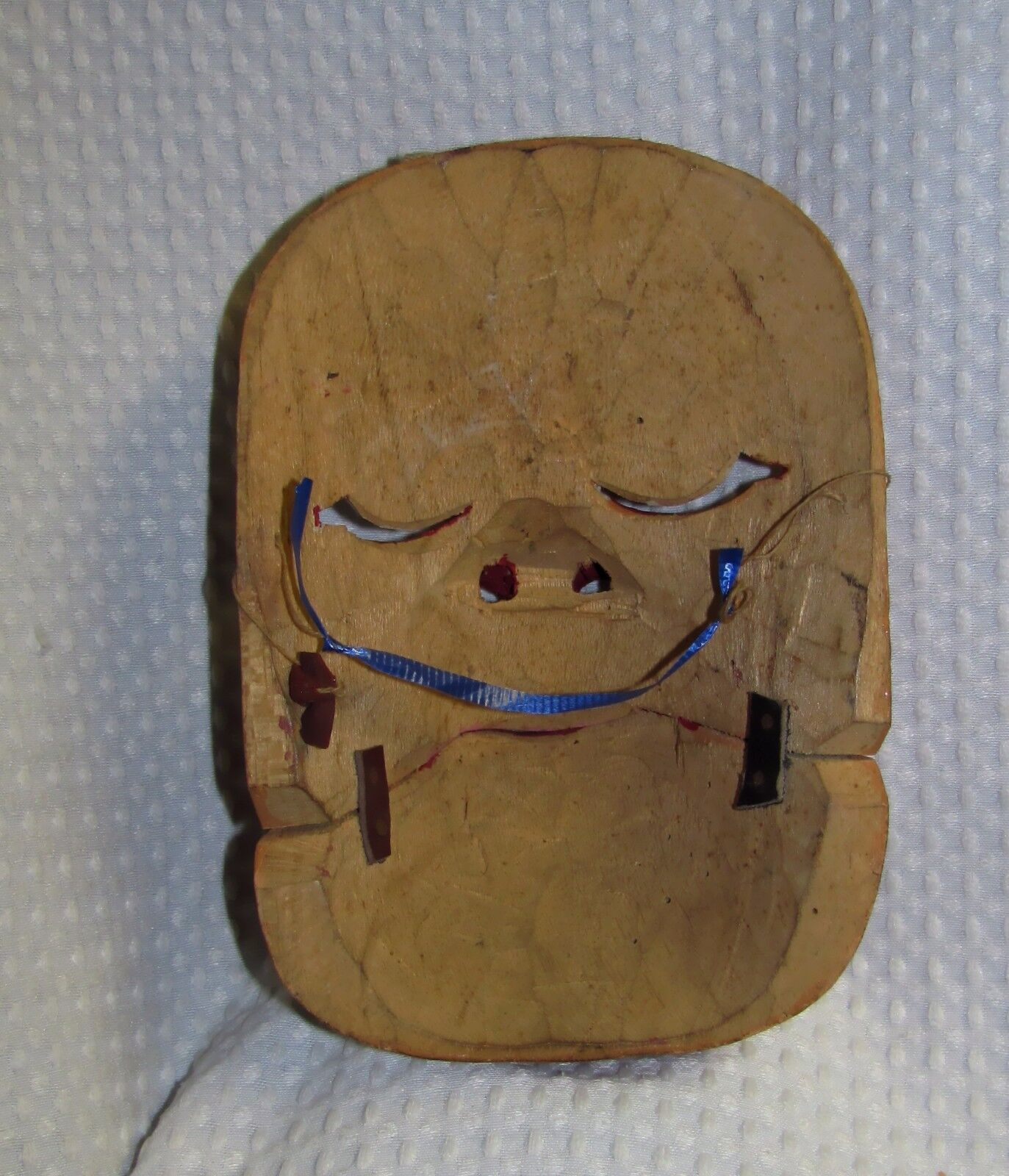 Vintage Balinese Ceremonial Mask with Movable Jaw