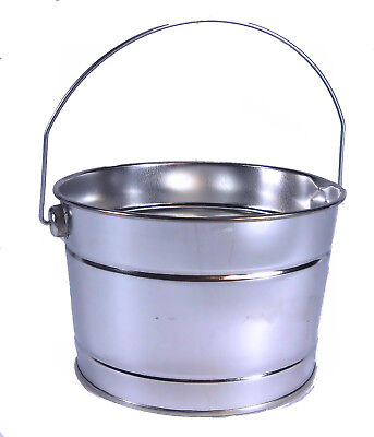 72 pc Wholesale case lot Buckets 2 Qt Galvanized w/handle weddings parties - Galvanized Buckets Wholesale