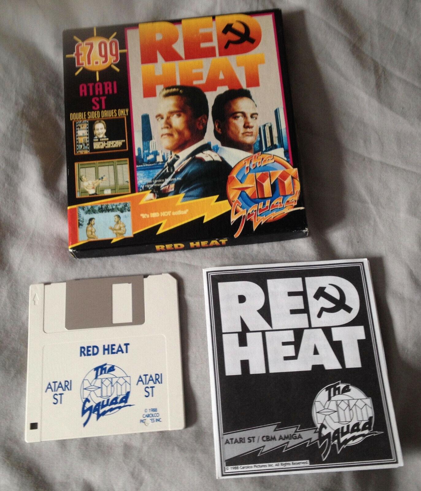 retro computer games - RED HEAT Atari STe ST video computer game 1988 retro vintage floppy disk disc