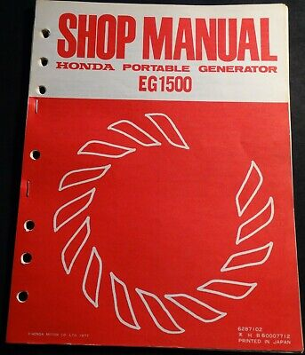 1978 HONDA PORTABLE GENERATOR EG1500 SHOP SERVICE MANUAL (567) for sale  Shipping to India