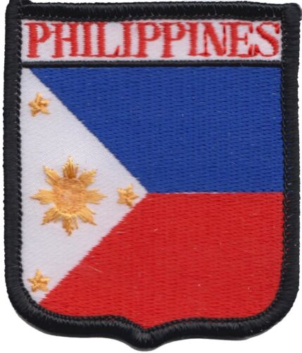 Philippines Flag Shield Embroidered Patch Badge