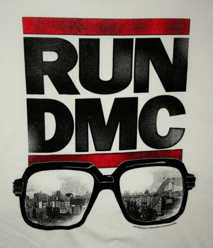 Retro Run DMC Hip Hop 2014 Brooklyn Glasses T-Shirt New Size 2XL Live Nation