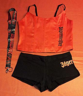 Top Booty Shorts (Jägermeister Jager Girl Corset Top, Booty Shorts, & Lanyard - Like NEW - So HOT!)