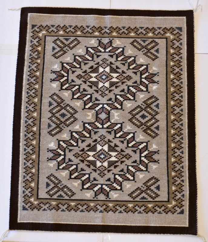Award winning Two Grey Hills Navajo Rug by Martha Smith - First Place - 1J14A