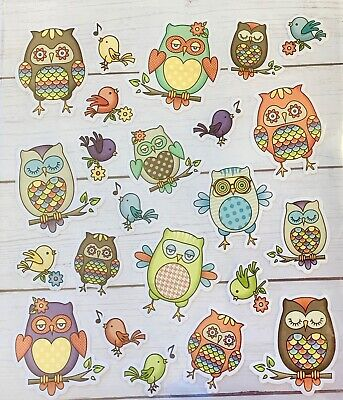 Colorful Folk  Woodland Owl Stickers Papercraft Planner Supply Envelope Seal - Woodland Owl