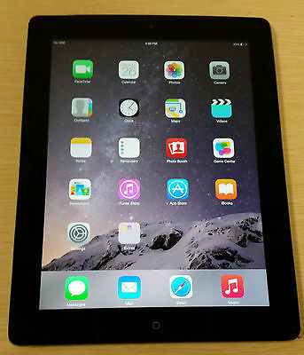 Apple iPad 4th Gen 32GB, Wi-Fi + Cellular (Unlocked), 9.7in - Black