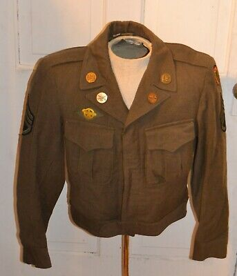 WW2 WWII US Army Ike Jacket 24th Infantry Hawaiian Division IKE JACKET Id'd