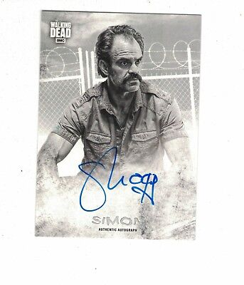 2018 Walking Dead Hunters and the Hunted autograph SIMON steven ogg