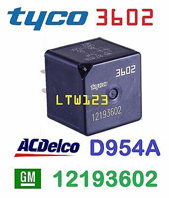 GM 12193602  Tyco 3602 AC Delco D954A Multi Purpose Relay