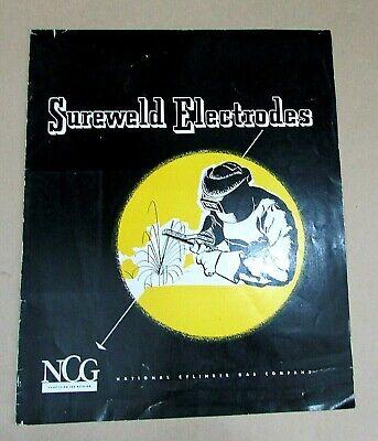 1950 Natl Cylinder Gas Hollup Sureweld A-c Welder Electrodes Sales Book Free Sh