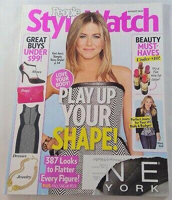 People Style Watch magazine August 2013 Jennifer Anniston Fashion Your (Jennifer Anniston Style)