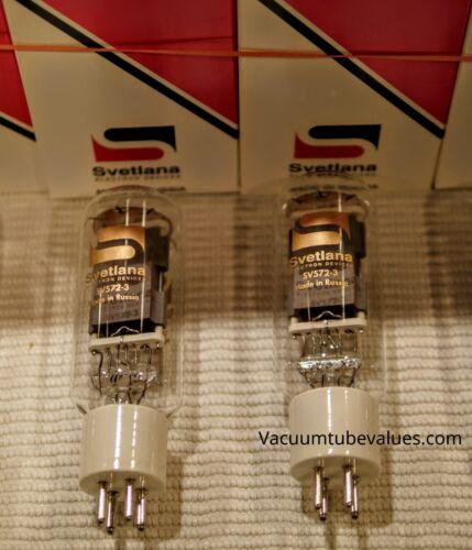 Svetlana Factory Platinum Matched  PAIR TWO SV572-3 572-3 Power Triode Tubes