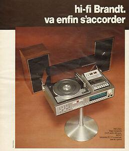 publicit 1975 hifi brandt enceintes tourne disque son. Black Bedroom Furniture Sets. Home Design Ideas