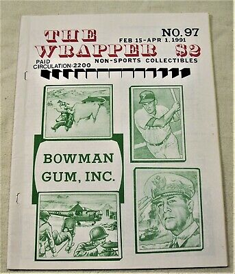 1991 The WRAPPER NON SPORTS CARD MAGAZINE #97 Bowman Gum, Inc. ISSUE  L@@K!