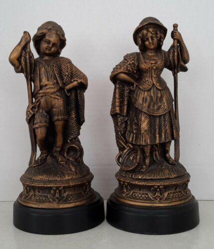 Vintage Spelter Metal Statues