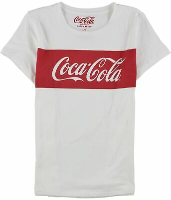 Lucky Brand Womens Classic Coca Cola Graphic T-Shirt, white, Large