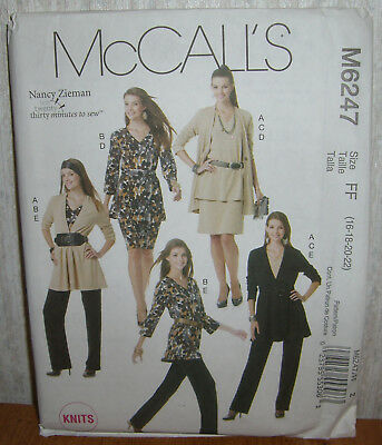 Womens/Misses Jacket Tops Skirt Pants Sewing Pattern/McCall's M6247/SZ 16-22/UCN for sale  Shipping to India