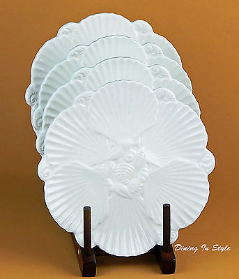 Set: 2 Salad Plates, MINT-SUPERB! Seashell Collection, Cardinal Inc, Portugal - Seashell Plates