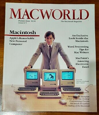 MacWorld Magazine Premier Issue, 1984 - True First Printing - Steve Jobs - Apple
