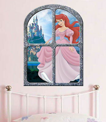 Disney princess   ARIEL the LITTLE MERMAID  !!!  GIANT WINDOW VIEW POSTER