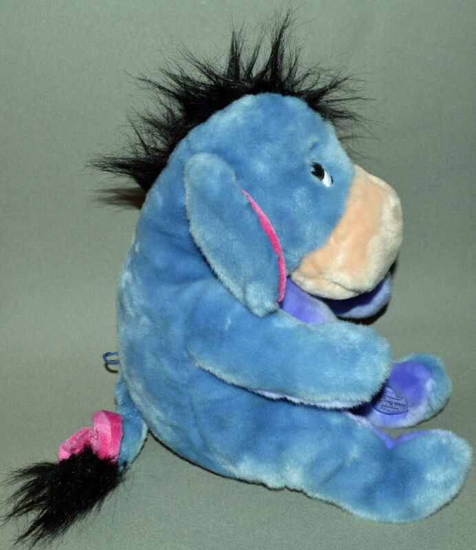 "EEYORE SOFT Plush Stuffed Toy 12"" Winnie the Pooh Disney AUTHENT Store Age1+ MT!"