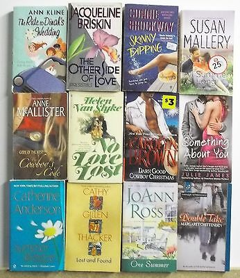 12 Thick MODERN ROMANCE NOVELS Free US S/H Lot #A538 Popular Authors - Read List