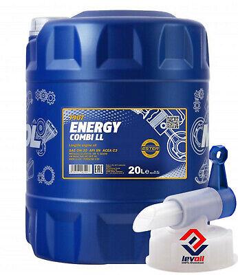 20 Liter Mannol Energy Combi LL 5W-30 Motoröl VW 5w30 Longlife 3 BMW LL-04 +Hahn