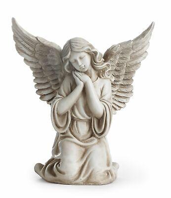 Kneeling Angel Garden Statue Patio Home Indoor Outdoor Decor Sculpture Figure - Kneeling Angel Garden Figure