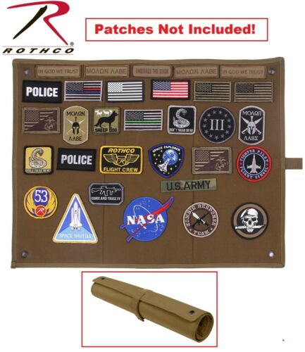 Rothco Hook & Loop Morale Patch Board Hanging Roll-Up Insignia Accessory Board