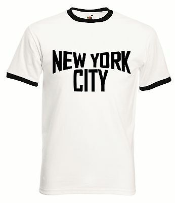New York City Ringer T-Shirt - Retro John Classic T Shirt Lennon Music Imagine