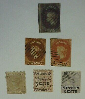 Ceylon collection 6 different MD 2021 Scott $1161.50