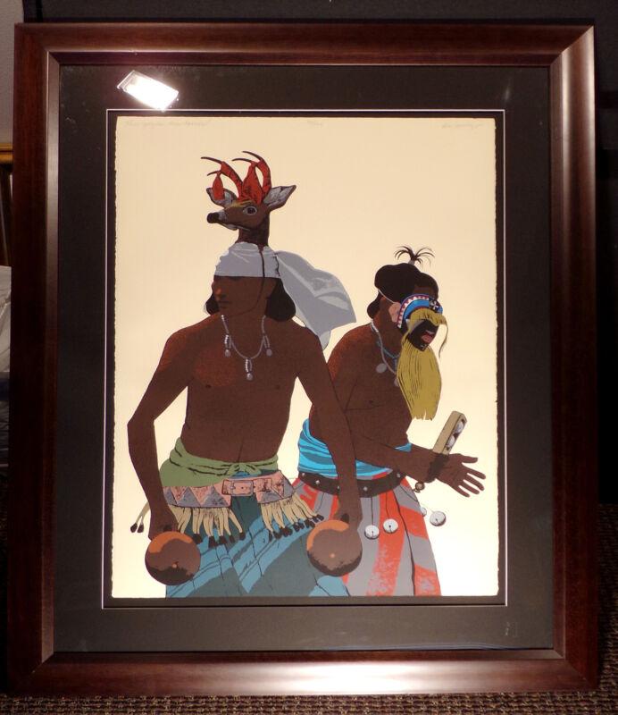 """Louis De Mayo """"The Yaqui Deer Dancer"""" Signed Framed Art Serigraph, Make Offer!"""