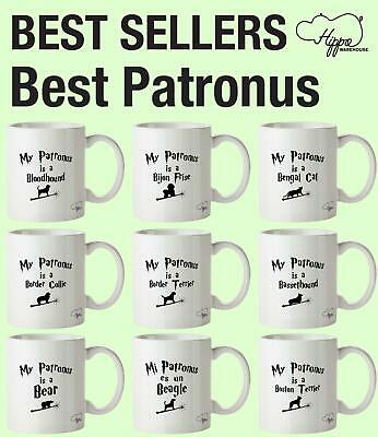 Best Patronus printed Mug Cup Ceramic 10oz reusable birthday animal pet