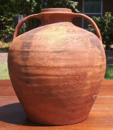 Rare Pompeii Reproduction Exhibition Pottery Vase 9""
