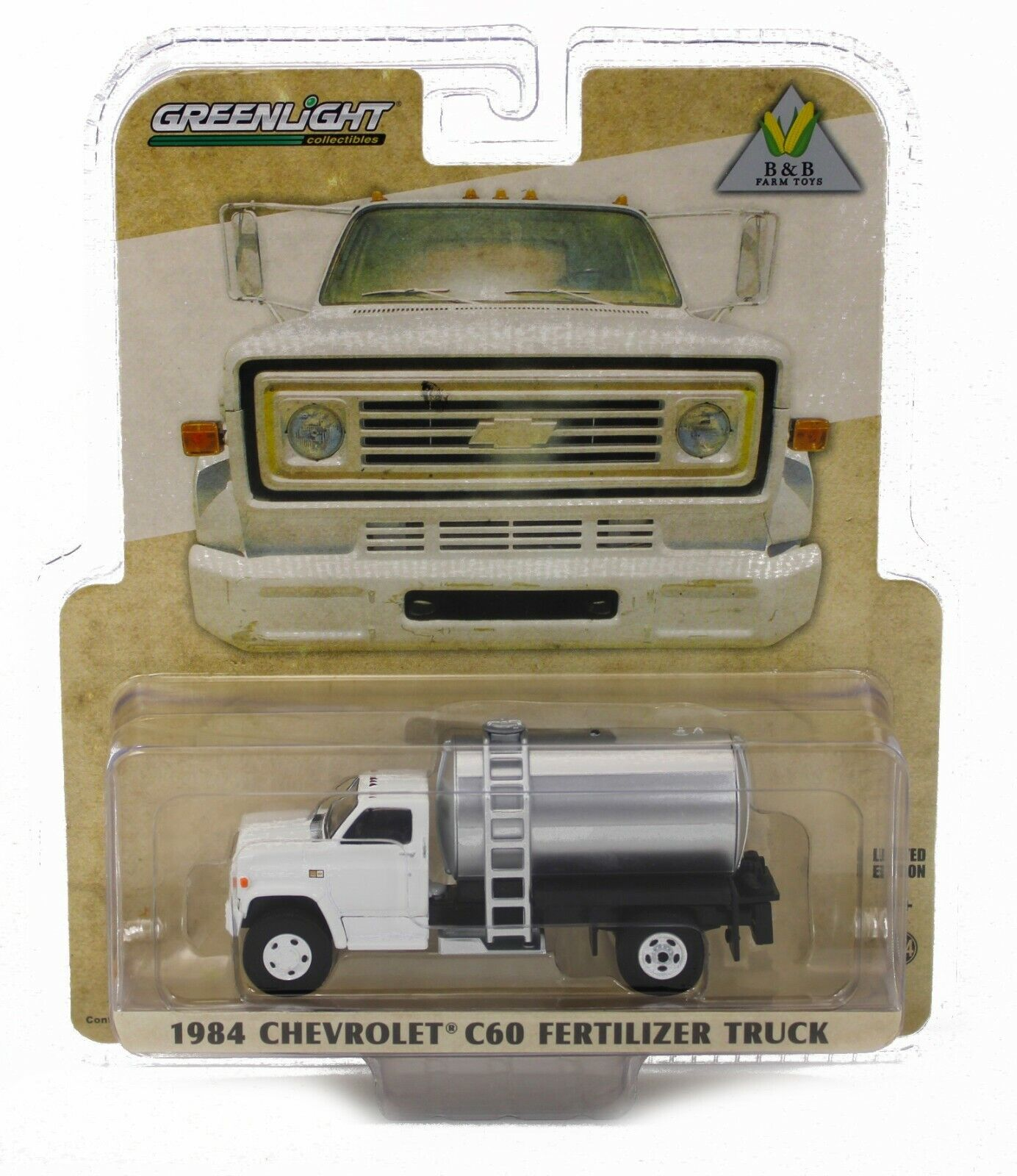 NEW! 1:64 Greenlight 1984 Chevrolet C60 *FERTILIZER TRUCK* WHITE *NIP*