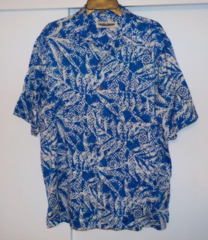 Island Republic s/s shirt Blue / White print