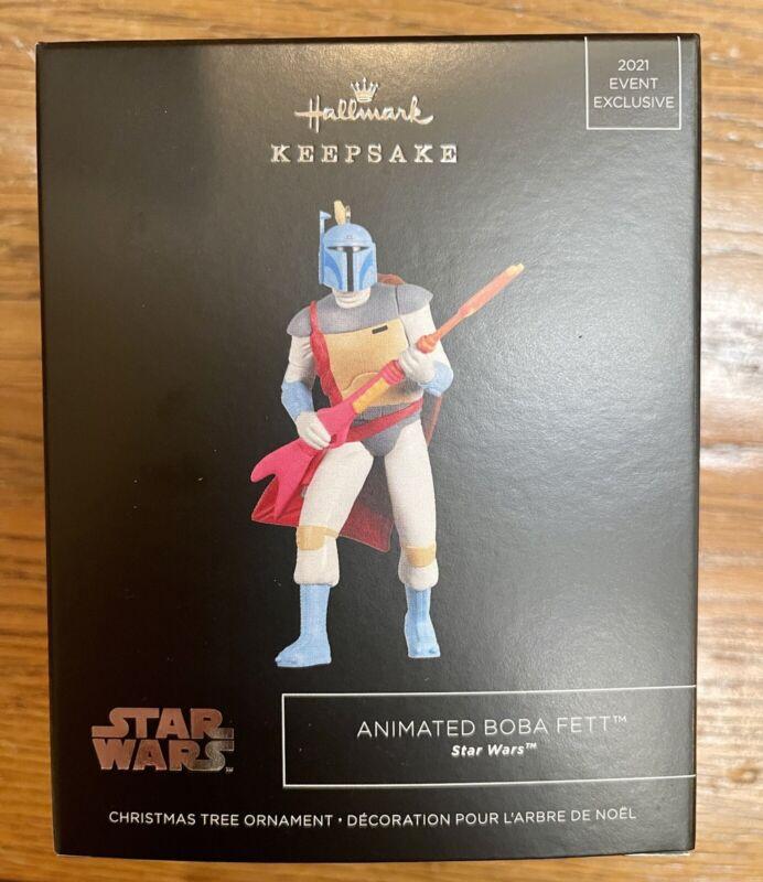 SDCC 2021 HALLMARK Star Wars Animated Boba Fett Keepsake Ornament