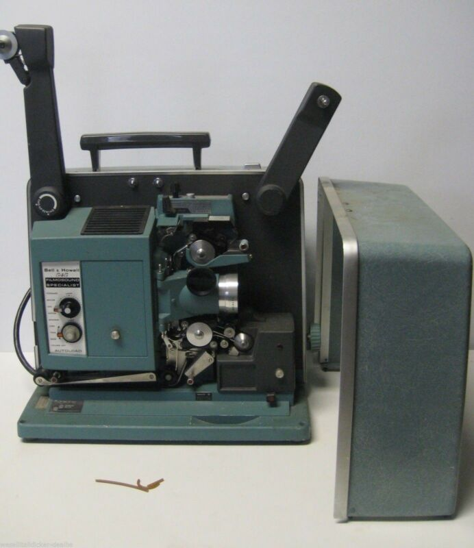 Vintage BELL & HOWELL 545 FILMOSOUND SPECIALIST 16MM Projector in Case Works
