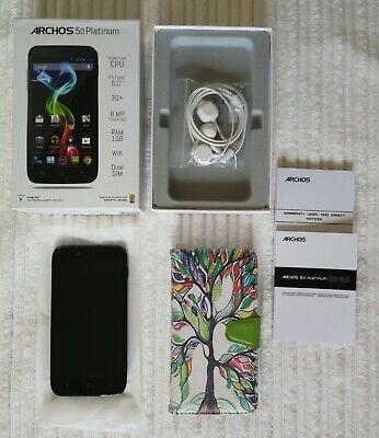 ARCHOS 50 Smartphone - Platinum in OVP * schwarz *