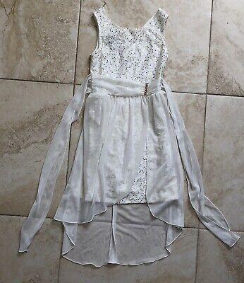 Girl Sz 7 B Wear Byer Girl Dress Easter Church Wedding Dance Party White - Easter Pageant Wear