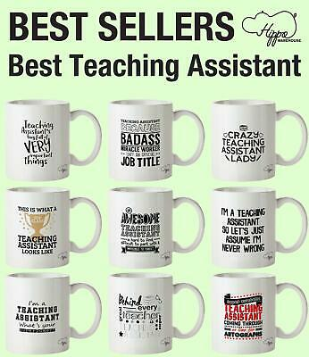 Best Teaching Assistant printed Mug Cup Ceramic 10oz Kitchen funny gift present