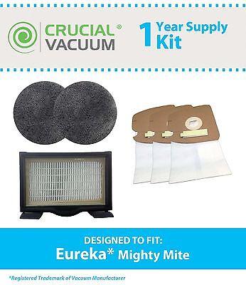 (Eureka Mighty Mite Vacuum Kit: 18 MM Bags HF8 2 Motor Filters)
