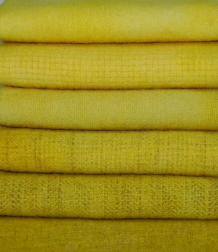 HAND DYED RH WOOL OverDyed COMBO BUNDLE~CHICKIES, DAFFIES & DAISIES (6) Fat 1/16