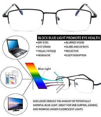 Blue Light Blocking Half Frame Computer Reading Glasses Anti UV Eye - Lighted Glasses