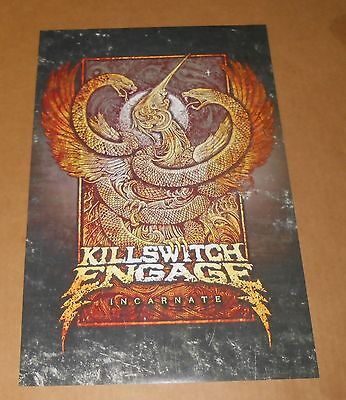 Killswitch Engage Incarnate Poster 2-Sided Original Promo 17x11