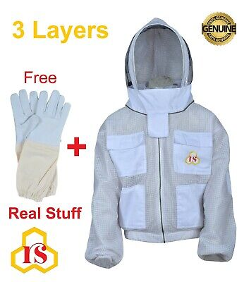 Large Beekeeper Gear Ultra Vented 3 Layer Mesh Jacket Vivo Protective Hat L L