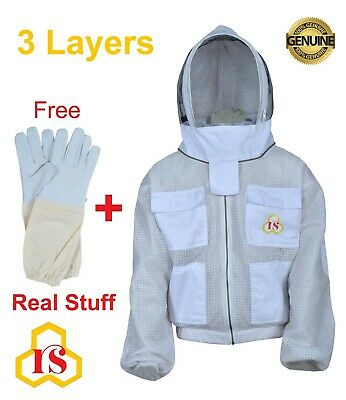 Ultra Ventilated Beekeeping Beekeeper Jacket Fancy Veil Sting Safety Large L