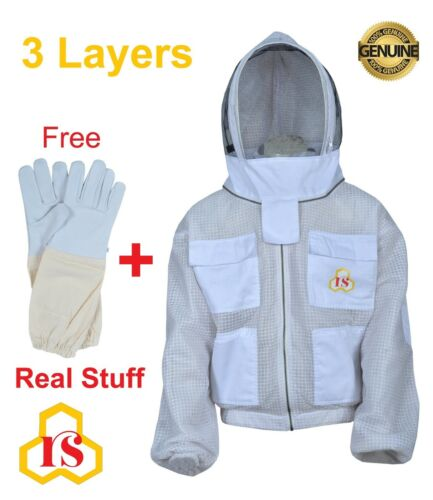 Ultra Ventilated beekeeping beekeeper jacket Fancing Veil sting safety size 3XL