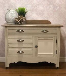 Antique solid wood washstand/dresser